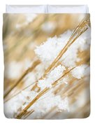 Snowy Weed Duvet Cover
