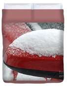 Snowy Wing Mirror Duvet Cover