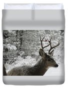 Snowy Young Buck Duvet Cover