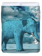 So Blue Without You Duvet Cover