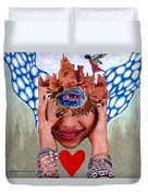 Soap Scene # 12 Sandcastle Shrine Duvet Cover