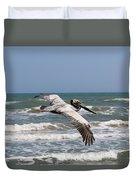 Soaring Pelican  Duvet Cover