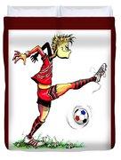 Soccer Striker Duvet Cover
