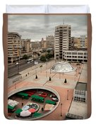 Socialistic Town Planning Duvet Cover