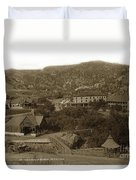 Soda Springs And Cliff House In Manitou, Colorado Duvet Cover