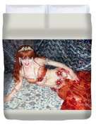 Sofia Metal Queen. Ameynra Bellydance Star Model Duvet Cover