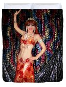 Sofia Metal Queen - Belly Dancer Model At Ameynra Duvet Cover