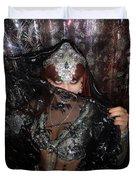 Sofia Metal Queen - Black Metal Bellydancer Model Duvet Cover