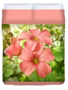 Soft And Peachy Smiles Duvet Cover