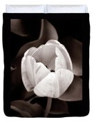 Soft And Sepia Tulip Duvet Cover