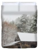 Soft Colors In The Snow Duvet Cover