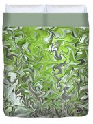 Soft Green And Gray Abstract Duvet Cover
