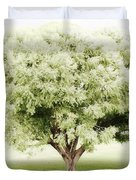 Soft Green Tree Duvet Cover