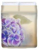 Soft Hydrangeas On Peach Duvet Cover