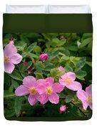 Soft Light On Nookta Rose Rosa Nutkana Duvet Cover
