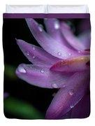 Soft Macro Of Purple Flower Duvet Cover