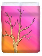 Soft Pastel Tree Abstract Duvet Cover