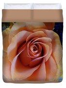 Soft Peach Rose Duvet Cover