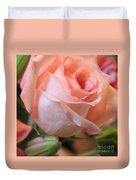 Soft Pink Rose Duvet Cover