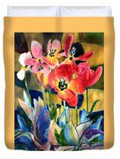 Soft Quilted Tulips Duvet Cover