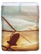 Soft Sunset Landing  Duvet Cover