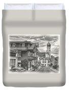 Soft Village Image Duvet Cover