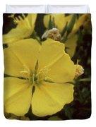 Soft Yellow Flowers Duvet Cover
