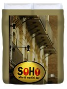 Soho Wine Bar Duvet Cover