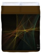 Soil Computer Graphic Line Pattern Duvet Cover