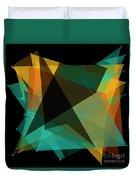 Soil Polygon Pattern Duvet Cover