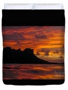 Sokeh's Rock Sunset Duvet Cover