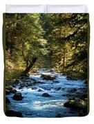 Sol Duc River Above The Falls - Washington Duvet Cover