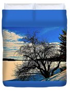Solace On Silver Lake Duvet Cover