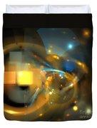 Solar Blue Stars Duvet Cover