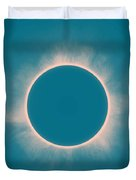 Solar Eclipse In Morning  Color Duvet Cover