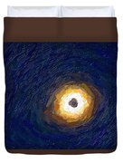 Solar Eclipse In Totality Painting Duvet Cover