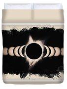 Solar Eclipse Phases 2 Duvet Cover