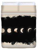 Solar Eclipse Phases Duvet Cover
