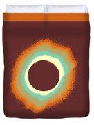 Solar Eclipse Poster 4 A Duvet Cover