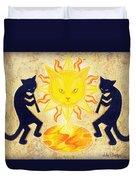 Solar Feline Entity Duvet Cover
