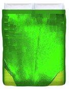 Solar Green Duvet Cover