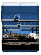Solar Panels In Connecticut  Duvet Cover