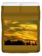 Solar Storm Sunset Duvet Cover