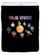 Solar System Planets Duvet Cover