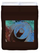Solarized Rusty Fire Hydrant Duvet Cover