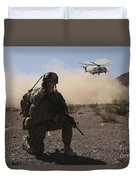 Solders Are Inserted By A Ch-53 Super Duvet Cover