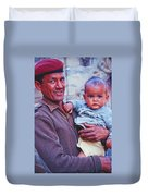 Soldier And Baby Duvet Cover