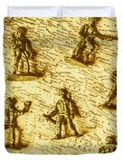 Soldiers And Battle Maps Duvet Cover