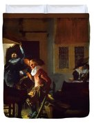 Soldiers Beside A Fireplace 1632 Duvet Cover