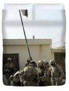 Soldiers From The Iraqi Special Forces Duvet Cover